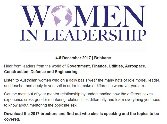 Women in Leadership Brisbane (4-5 Dec 2017)