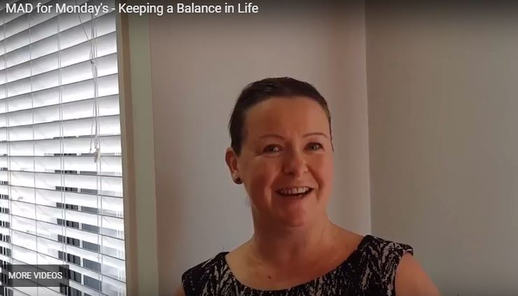 M.A.D. (Make a Difference) for Monday's – Keeping a Balance in Life