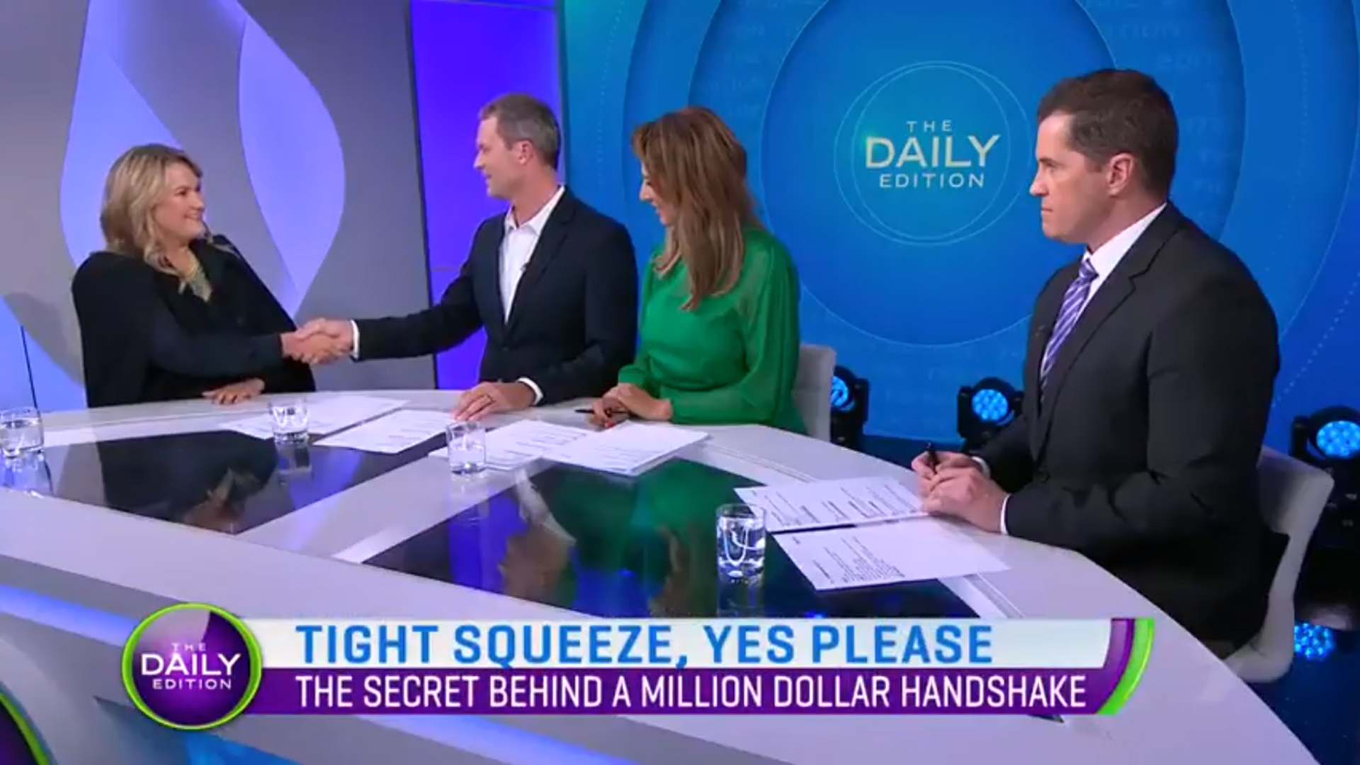 Channel 7 – Catherine Molloy Million Dollar Handshake – Daily Edition
