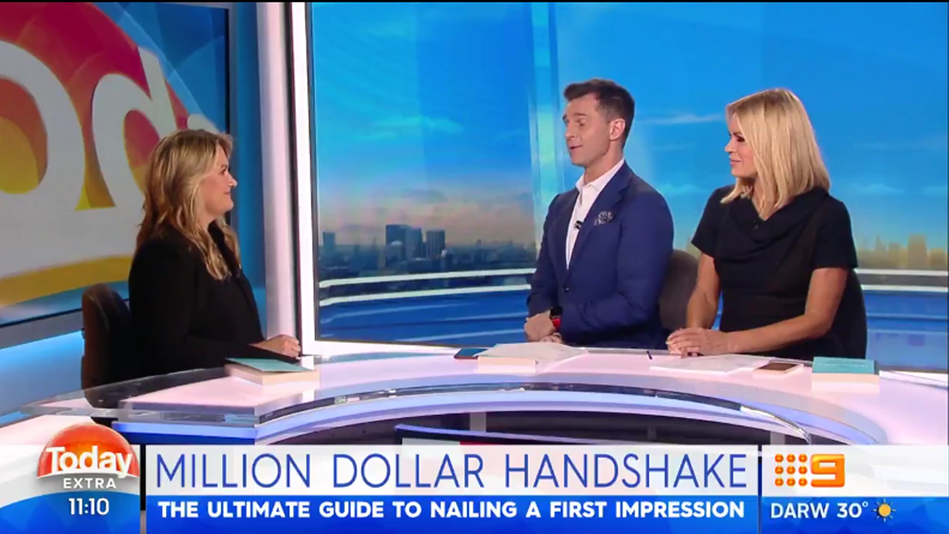 Channel 9's Today Extra – Interview with Catherine Molloy – Million Dollar Handshake