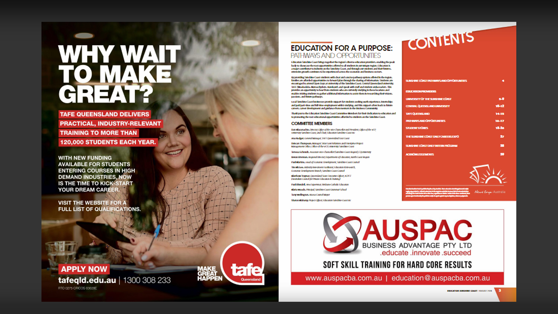 Education Sunshine Coast Magazine August 2018