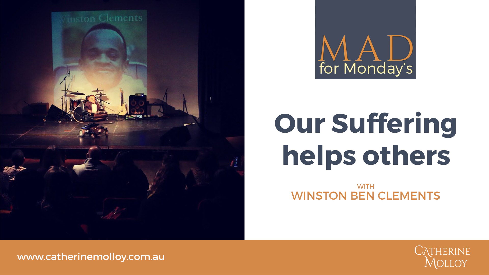 MAD for Monday's – Our Suffering helps others